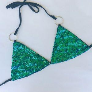 Other - Sequin Bikini Top